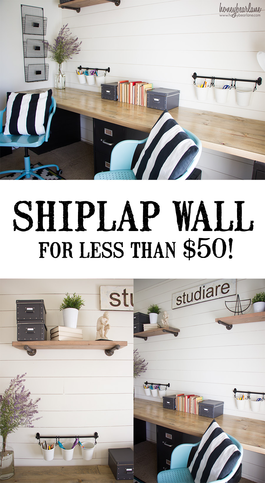 Shiplap Wall for Under $50 - Honeybear Lane