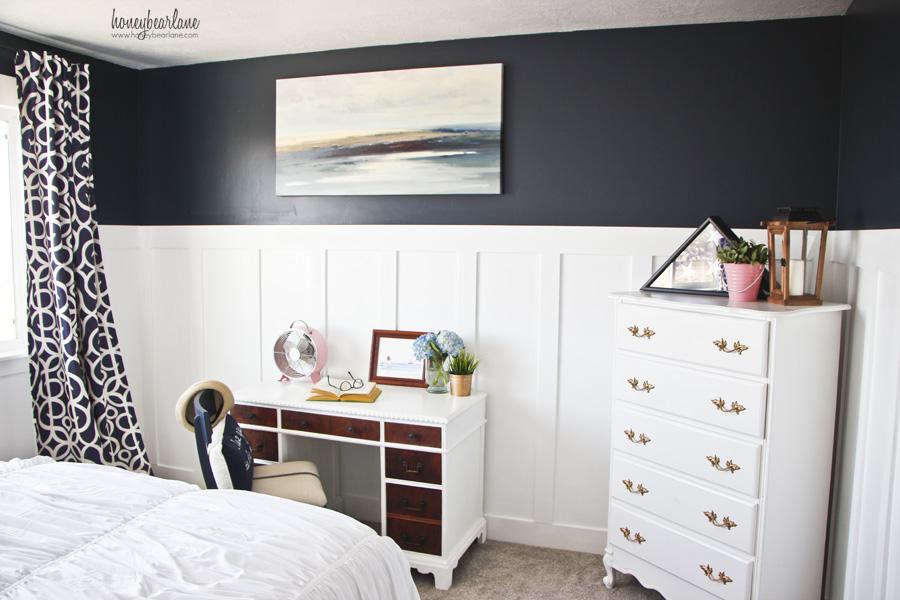 Navy Blue Guest Room Honeybear Lane