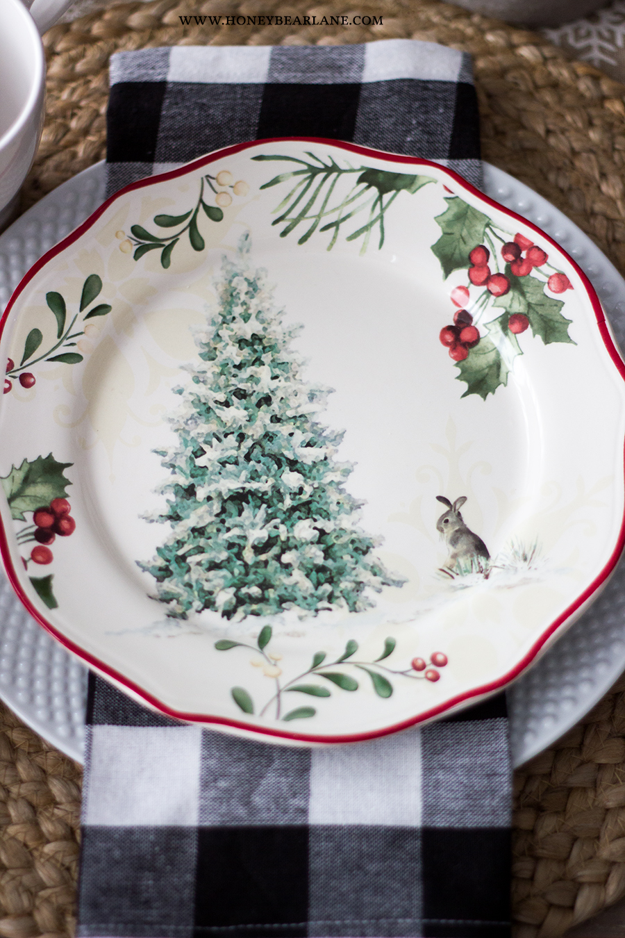 Vintage Christmas Table Setting Honeybear Lane