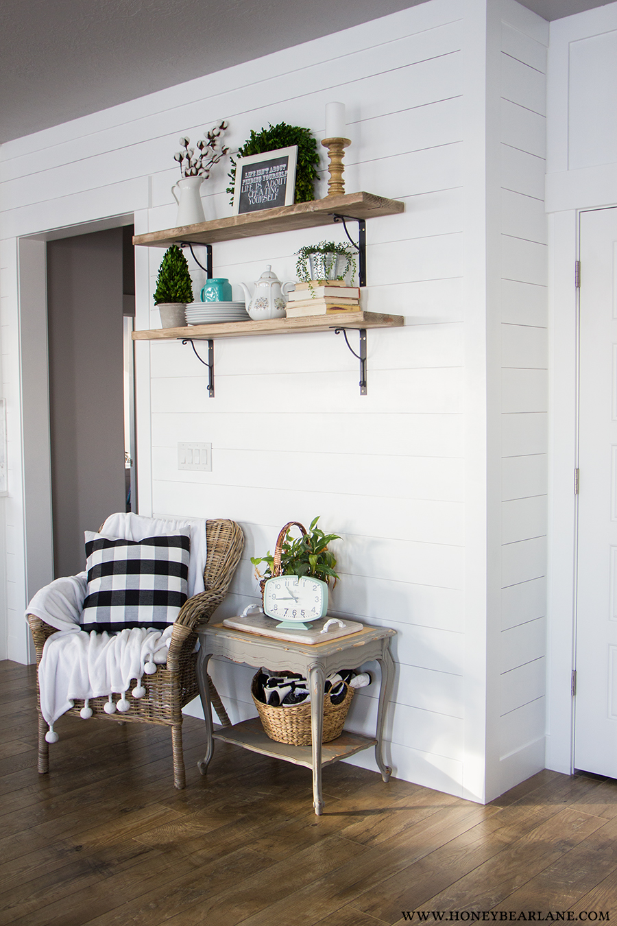 Shiplap Wall Dining Room