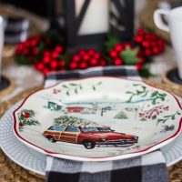 Vintage Christmas Table Setting