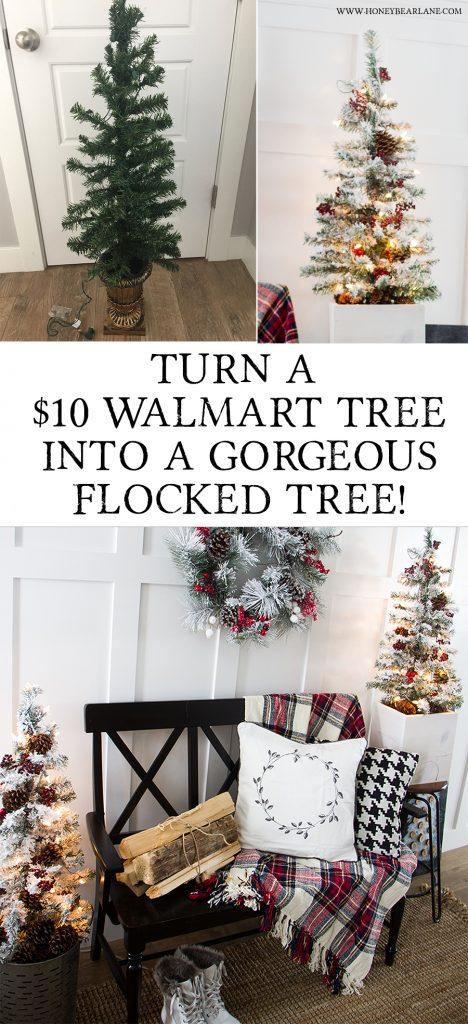 turn-a-walmart-tree-into-a-pretty-flocked-tree