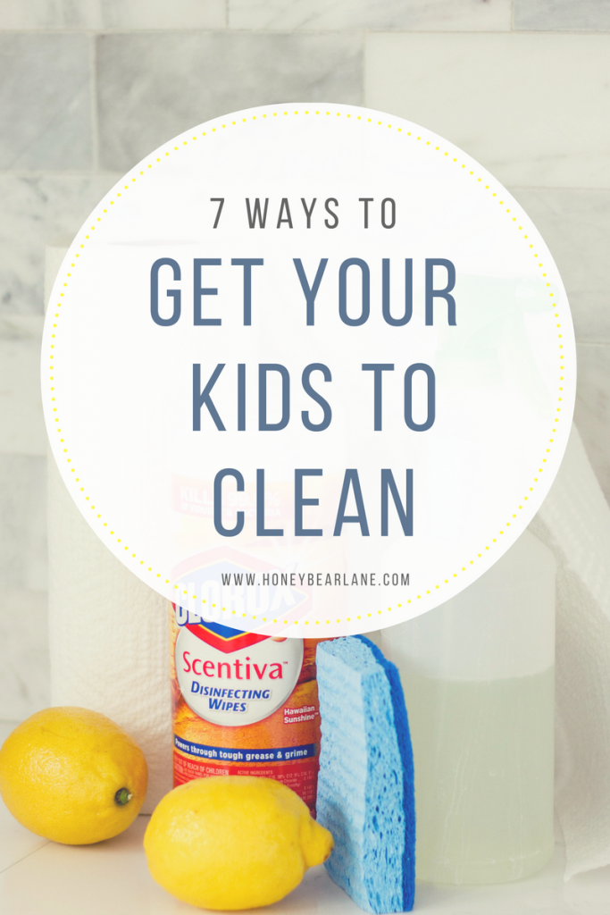 get your kids to clean