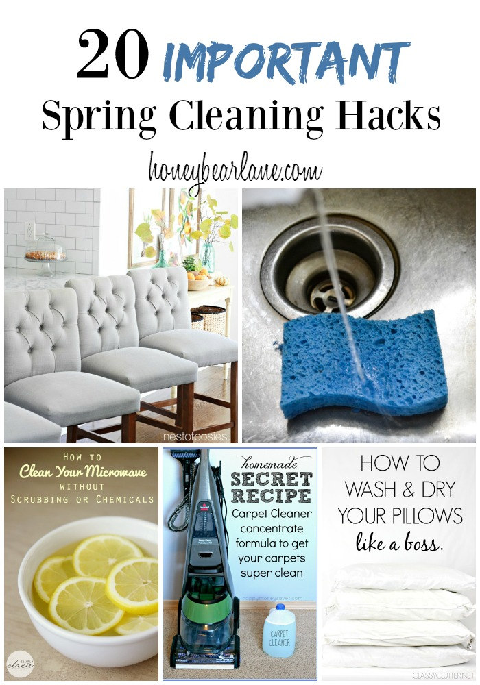 25 Cleaning Hacks For Spring Cleaning Honeybear Lane