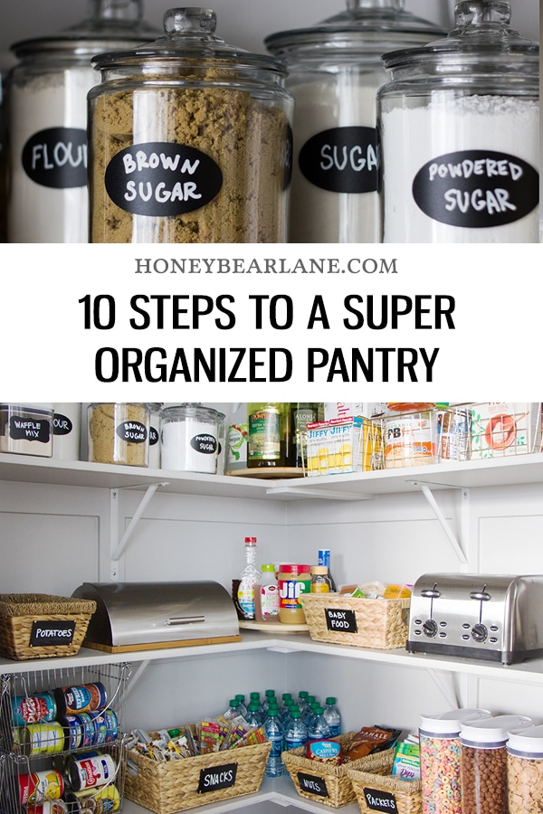 10 Steps to an Organized Pantry - Honeybear Lane on kitchen with walk-in pantry, kitchen doorway ideas, kitchen design, kitchen corner pantry, kitchen great room ideas, kitchen dry bar ideas, kitchen breakfast bar ideas, kitchen pantry armoire, kitchen snack bar ideas, kitchen desk ideas, kitchen eating area ideas, kitchen gas stove ideas, kitchen pantry furniture, kitchen cabinets, kitchen microwave ideas, kitchen pantry and laundry room, fancy coral kitchen ideas, kitchen tray ceiling ideas, kitchen dining area ideas,