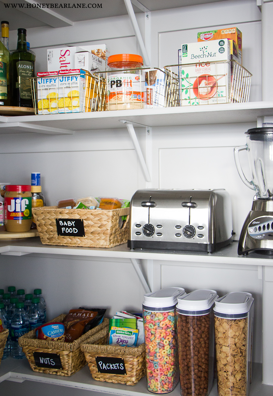 pantry-organized & 10 Steps to an Organized Pantry - Honeybear Lane
