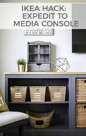 See how I turned an IKEA Expedit into a media console!