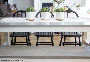 Weathered Gray Kitchen Table