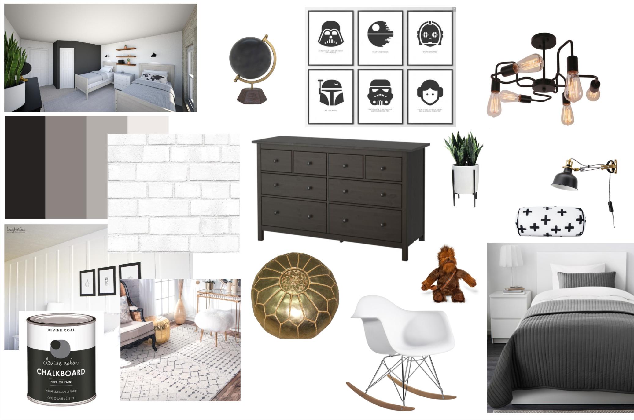 Modern Farmhouse Boys Room Plans - Honeybear Lane