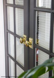 Ordinaire French Doors Gold Doorknobs