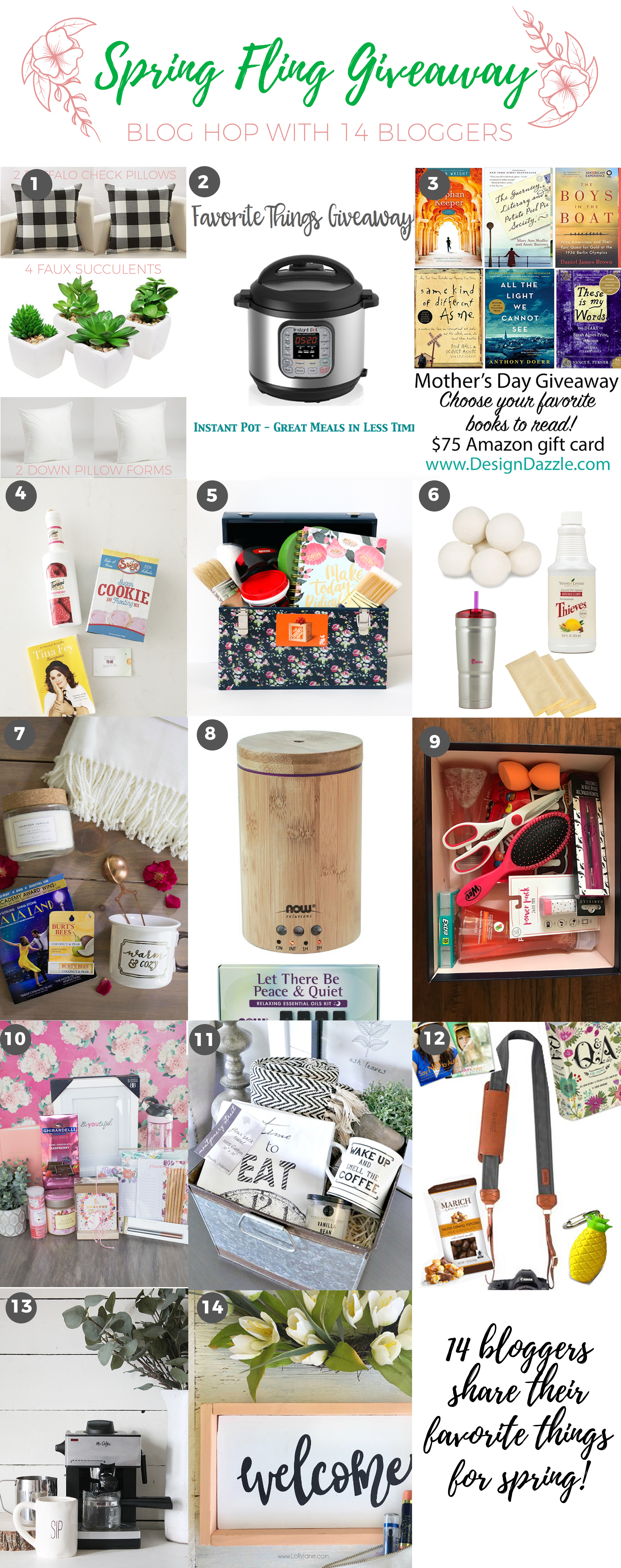 spring fling giveaway collage Gift Ideas for Mother's Day + Spring Cleaning Giveaway 1 spring cleaning giveaway
