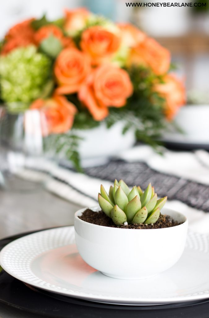 mother's day centerpiece and succulent gift
