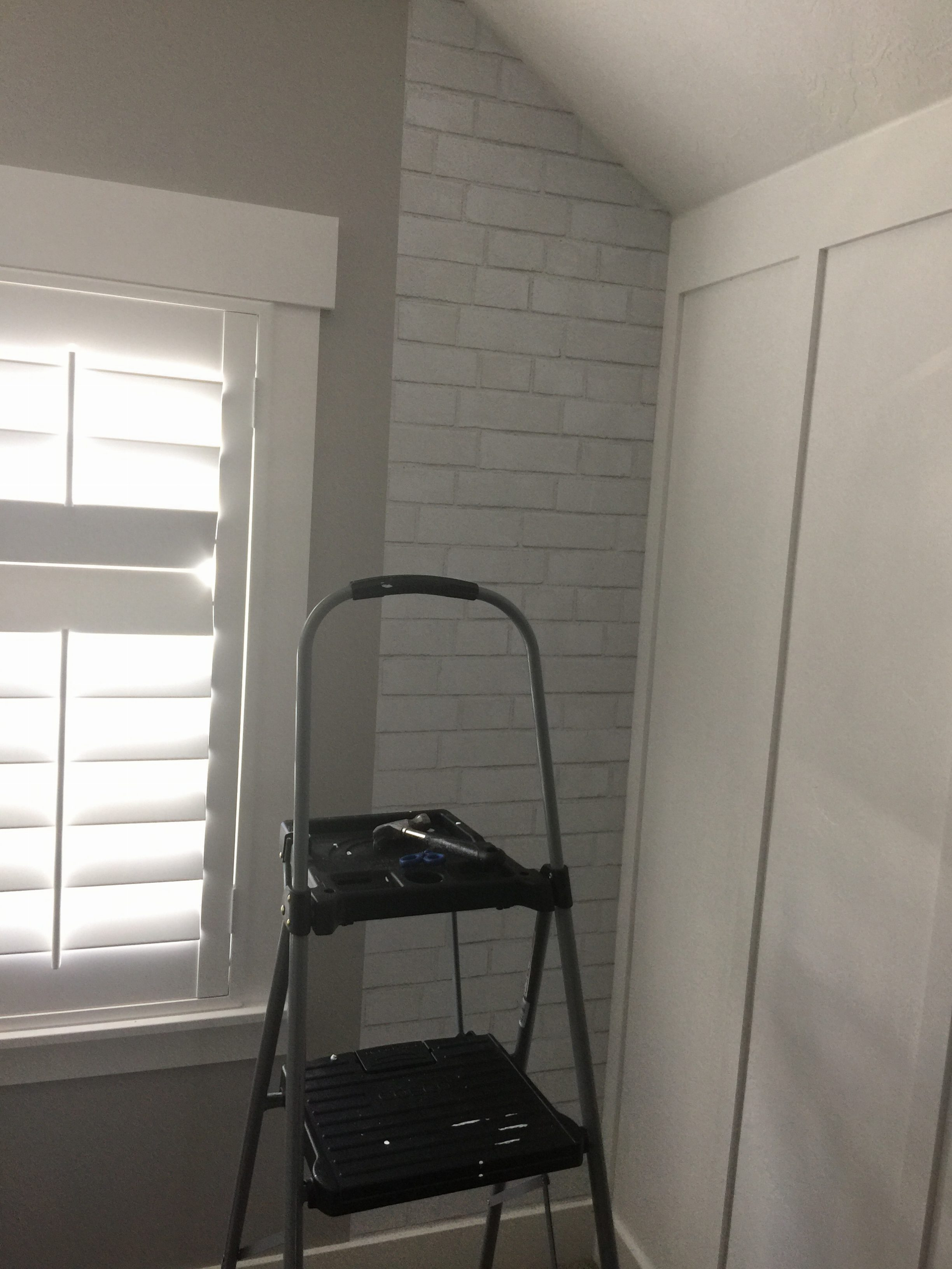 Brick Wallpaper and Accent Chalkboard Wall Honeybear Lane