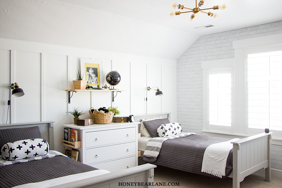 Industrial Farmhouse Boys Room Makeover - HoneyBear Lane