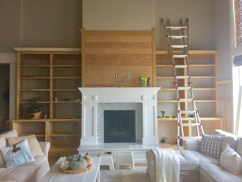 Diy Built Ins Around The Fireplace Part 2 Honeybear Lane