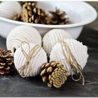 25 Farmhouse Style DIY Ornaments