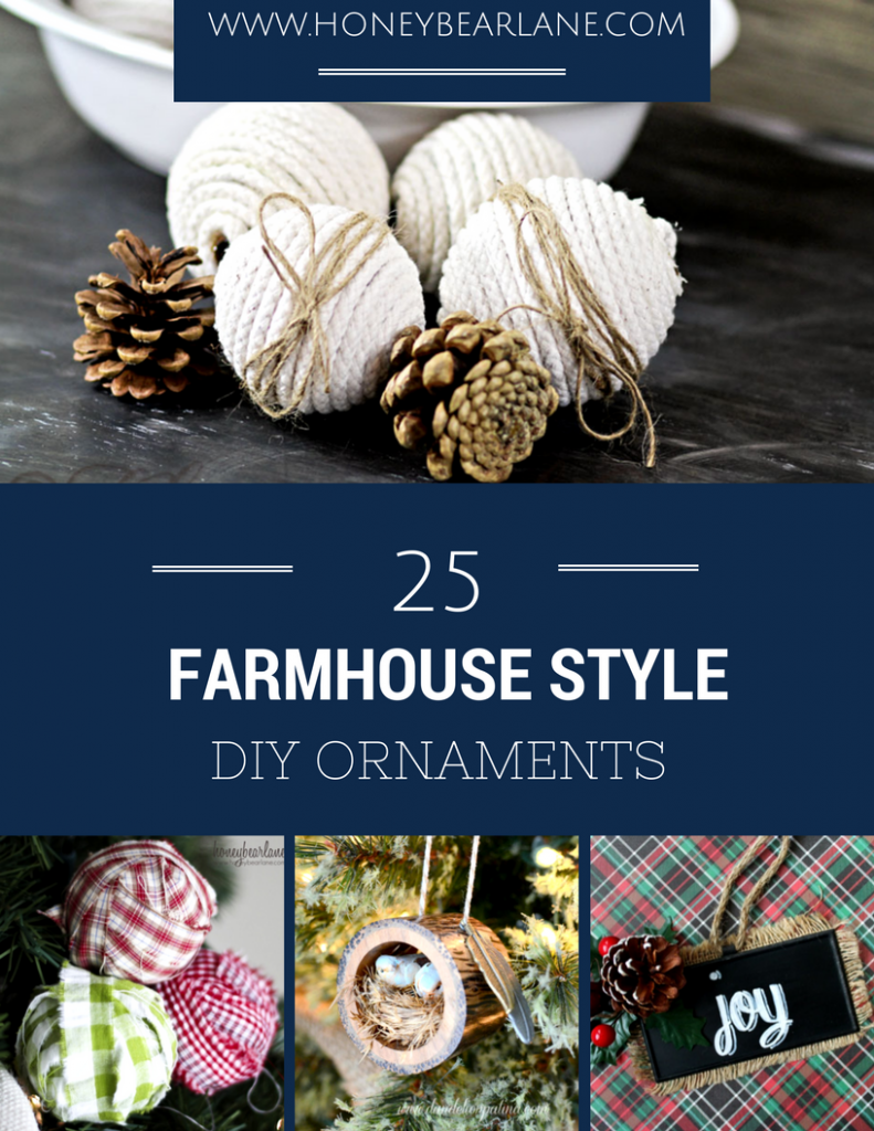 farmhouse style diy ornaments