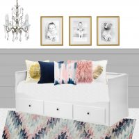 Blue and Pink Girls Room Plans