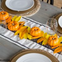 Thanksgiving Leaf Garland Centerpiece