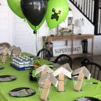 Minecraft Birthday Party with Free Printables