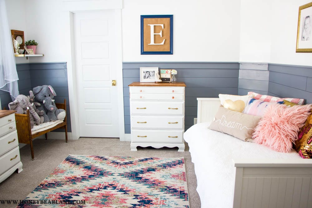 Pink and Blue Girls Room Reveal - Honeybear Lane